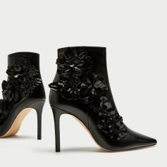 Floral detail ankle boot, by Zara, Collection F/W 2017