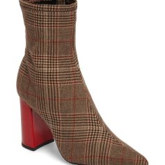 women's Siren plaid bottie, Collection Jeffrey Campbell