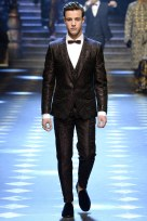 Men's Black Jacquard print Double Breasted Suit - Collection Dolce & Gabbana 2017 FW pic: Indigital tv