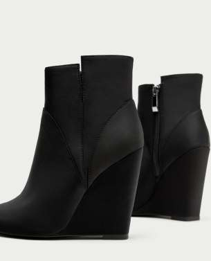 Wedge Heel Suede Ankle Boot Zara Collection F/W 2017