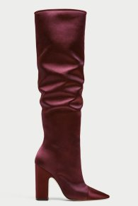 Zara Velvet Boot FW 17 Zara Collection