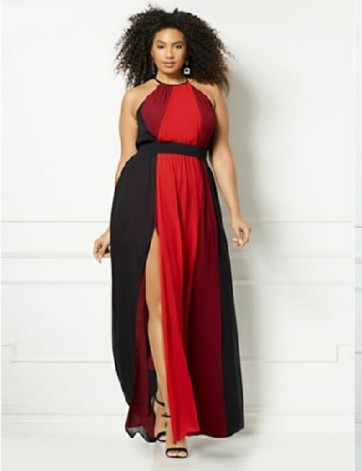 Color Block Dress -- Plus Size - Trending SS 2018 - Designer Anastasia - NY & Company