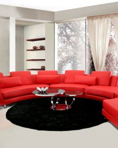 A94 Leather Sectional Contemporary Pinterest sold by La Furniture Store