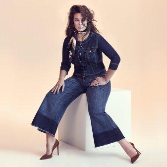 Dark Denim Collection - Ashley Graham For Marina Rinaldi - Plus Size Goddes - Wide Leg - Spring/Summer 2018 - Curvy Fashionista