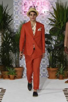 David Hart Men's Spring 2018 Havana Look Red Linen Suit