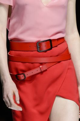 Lanvin SS 18 Red Belt and Skirt theimpression.com