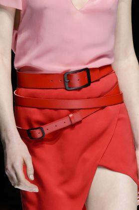 Lanvin SS 18 Red Belt and Skirt theimpression.com