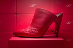 Red Leather Mules Roger Vivier SS18. Women's pic footwearnews.com