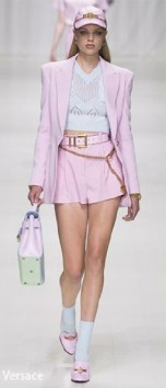 Short Shorts Suit - Versace - SS 18 Vogue - Indigital t.v.