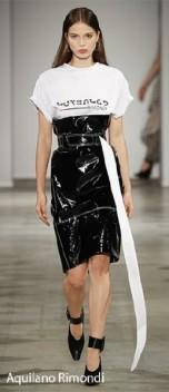 Aquilano Rimondi SS 18 Vinyl Long Skirt - Matching Belt - indigital t.v. :pic
