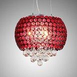 Romantic Crystal Pendant lamp - Red trending 2018 - amazon.ca