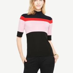 Ann Taylor Color Block Mock Neck Top SS18 pic: www.huffingtonpost.ca