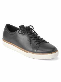 Leather Lace Toe Sneaker Men's SS 18 gap.co.uk