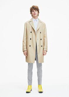 Men's Calvin Klein SS 18 trench coat pinterest