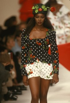 PARIS, FRANCE -: Naomi Campbell at the Patrick Kelly Spring 1989 (Photo by PL Gould/IMAGES/Getty Images)