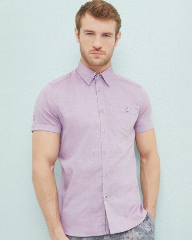 Lavender Short sleeve Shirt Ted Bakker SS18 www.huffingtonpost.ca
