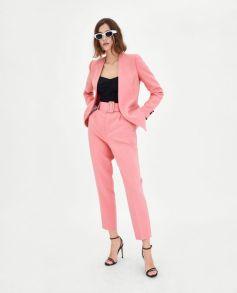 Zara Women's SS 18 Pale Rose suit...www.refinery29.com