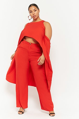 High-Low Top and Wide leg Pant Set..wwwforever21,com