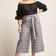 Glen Plaid Crop Pants Spring /18 www.zara.com
