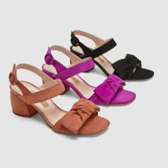 Block Heels Leather Sandals w ribbon www.zara.com