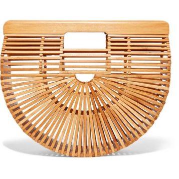 Cult Gaia Ark Small Bamboo clutch - Net A Porter - pic flare.com