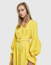 Farrow Harp Dress Yellow :pic refinery29