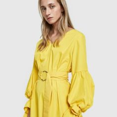 Farrow Harp Dress Yellow :pic refinery29
