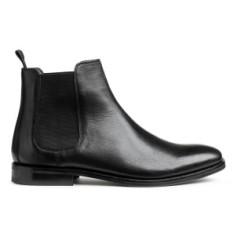 Grain Leather Men's Chelsea Ankle Boots hm uk.com S 18 pic:H&M
