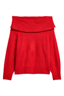 Off The Shoulder Sweater H&M SS 18 www.hm.com