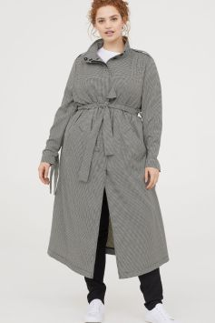 Grey Over Size Trench SS18 women's www.hm.com - www.hm.com.uk