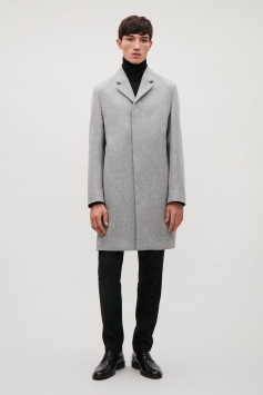 Long Wool Men's Car Coat cosstores.com S18