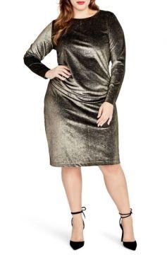 Rachel Roy Metallic Sheath Dress: refinery29