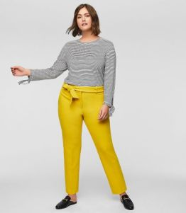 Slim Tie Waist Pants Loft Plus: refinery 29