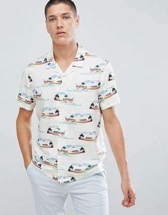ASOS Men's Printed Shirt SS18 asos.com