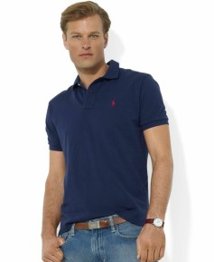 SS18 Ralph Lauren Classic Fit Cotton Mesh Polo pic: pinterest