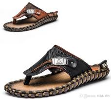 dhgate.com Genuine Leather Beach Flip Flops SS18