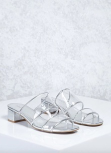 Forever 21 Clear Plastic Low heel Mules www.forever21.com