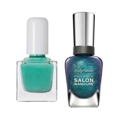 SS18 mani pedi combo Ten over Ten nail color in Rivington Sally Hansen nc Black and Blue www.instyle.com