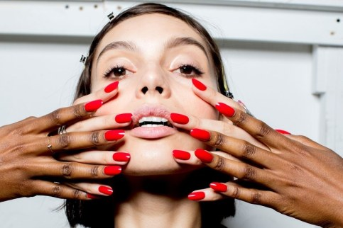 Nails SS18 trending www.allure.com Orly color luv my nails Adam Selma show
