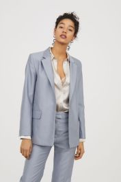 Notch lapel straight cut jacket and pant women's collection SS18 hm.com