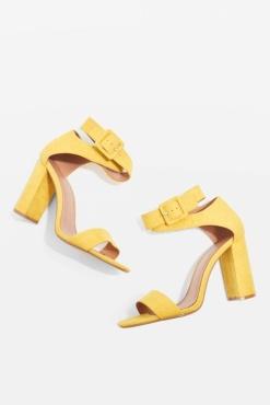 Yellow-Top shop-Sinitta-Crossover-Sandals topshop.com