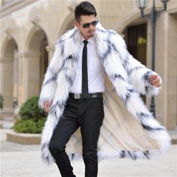 2018 Winter-Men Long Shaggy-Faux Fur Coat: aliexpress.com
