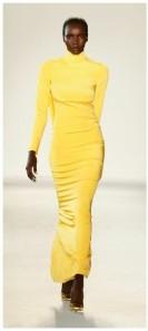 Yellow dress by Christian Siriano Fall 18 pic: latimes