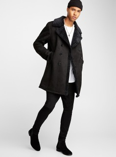 Faux-Shearling-Coat Autumn/Winter19 Men's Collection www.simons.ca