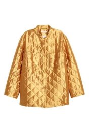 H&M Fall 2018 women's Quilted jacket in Shimmering Gold ...Pic: www.flaremagazine.com: