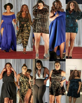 Models: Laika Josheph, Venetta Solena Gordon Cindy L Gibbs, Maddana Caliz, Shaina Thornhill, Lorriann Destiny, Stepanie Mgt, Mel Bidounga, MzCat Brownin, Claire-Anse Saint-Eloi : Representing The Bold, The Beautiful Plus Size Collection: Dresses by Nia Rich: RTR MTL 2017 Fashion Show