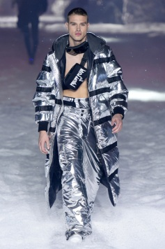 Photo by WWD/REX/Shutterstock Philipp Plein RTW, Fall Winter 2018, New York Fashion Week, Futuristic Snow Wear