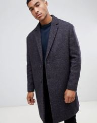 Wool Mix coat in Herringbone Asos Men's AW 18 www.asos.com