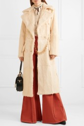 Double Breasted Shearling Coat Chloe AW2K18 www.net-a-porter.com