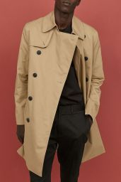 H&M Men's Short Trench Coat AW18 pic: www.thebestproducts.com